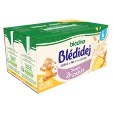 BLEDINA Blédidej céréales lactées saveur briochée dès 6 mois 4x250ml