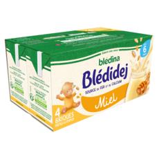 BLEDINA Blédidej céréales lactées miel dès 6 mois 4x250ml