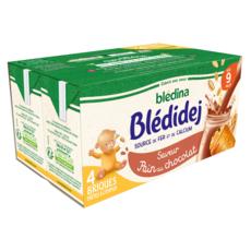 BLEDINA Blédidej céréales lactées pain au chocolat dès 9 mois 4x250ml