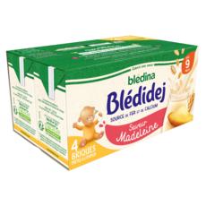 BLEDINA Blédidej céréales lactées à la madeleine dès 9 mois 4x250ml
