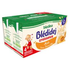 BLEDINA Blédidej céréales lactées saveur biscuité miel dès 12 mois 4x250ml