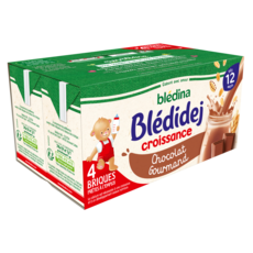 BLEDINA Blédidej céréales lactées chocolat gourmand dès 12 mois 4x250ml