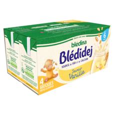BLEDINA Blédidej céréales lactées vanille dès 6 mois 4x250ml