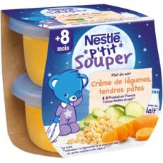 Nestlé NESTLE P'tit souper bol crème de légumes et pâtes dès 12 mois