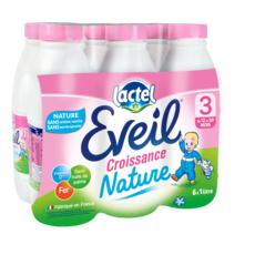 LACTEL Eveil 3 lait de croissance nature liquide dès 12 mois 6x1l