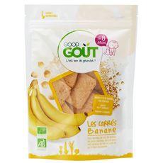 Good Goût GOOD GOUT Goûter biscuits carrés à la banane bio dès 8 mois