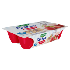 BLEDINA Les mini lactés petit pot dessert à la fraise dès 6 mois 6x55g