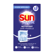 SUN Nettoyant lave-vaisselle classic 3 lavages 3 doses