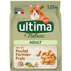ULTIMA NATURE Nature adult croquettes poulet légumes riz céréales pour chat 1,25kg