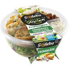 SODEBO Salade garden fromagère fromages raisins et noix 1 portion 240g