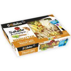 SODEBO Salade & Compagnie Manhattan Poulet Crudités Pâtes sans couverts 1 portion 320g