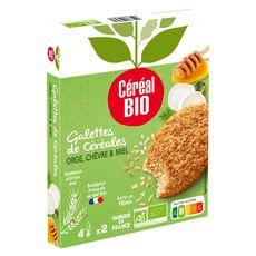 CÉRÉAL BIO Galette aux céréales, orge, chèvre et miel 2 pièces 2x100g