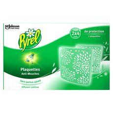 PYREL Plaquettes anti-mouches efficace 4 mois 2 plaquettes
