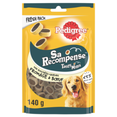 PEDIGREE Friandises tasty minis fromage et boeuf pour chien 140g