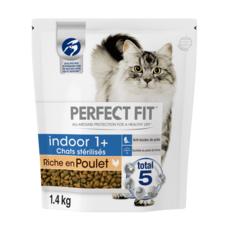PERFECT FIT Indoor croquettes au poulet pour chat d'intérieur stérilisé 1kg