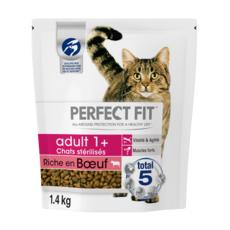 PERFECT FIT Adult croquettes au boeuf pour chat stérilisé 1,4kg