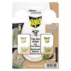 RAID Sachets armoires gel anti-mites senteur bois de cèdre 2 sachets