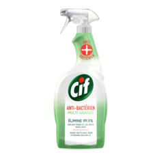 CIF Spray antibactérien nettoyant 100% désinfectant sans javel 750ml