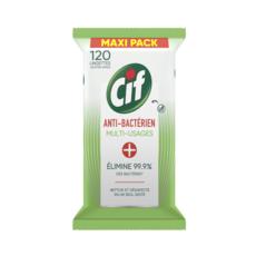 CIF Lingettes multi-usages antibactériennes & brillance 120 lingettes