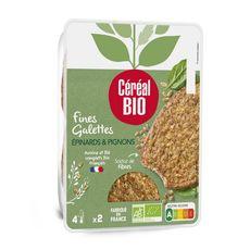 CÉRÉAL BIO Galette de céréales aux épinards et pignons 2 pièces 2x90g