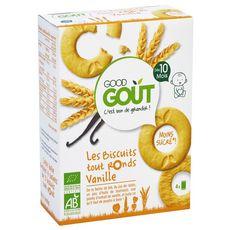 GOOD GOUT Biscuits tout ronds à la vanille bio dès 10 mois 80g