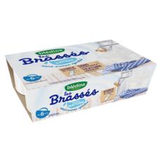 BLEDINA Les brassés petit pot dessert lacté nature dès 6 mois 6x95g