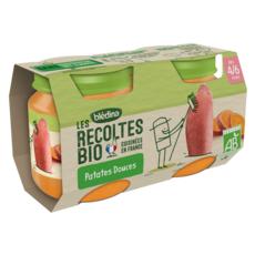 BLEDINA Petit pot patates douces bio dès 4 mois 2x130g
