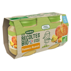 Blédina BLEDINA Petit pot dessert pommes et ananas bio dès 6 mois