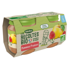 Blédina BLEDINA Petit pot dessert pommes et fraises bio dès 6 mois