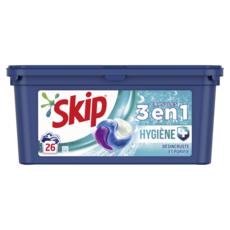 SKIP Lessive capsules hygiène 3en1 26 lavages 26 capsules