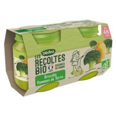 BLEDINA Petit pot brocolis pommes de terre bio dès 4 mois 2x130g