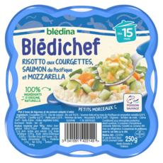BLEDINA Blédichef assiette risotto courgettes saumon dès 15 mois 250g
