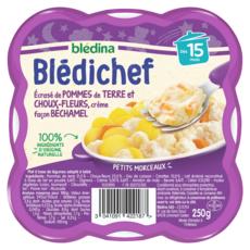 BLEDINA Blédichef assiette choux-fleurs et pommes de terre dès 15 mois 250g