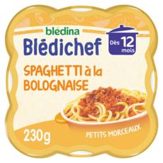 Blédina BLEDINA Blédichef assiette spaghetti à la bolognaise dès 12 mois