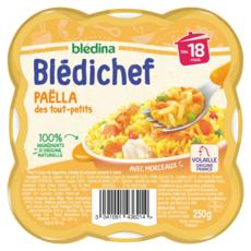 BLEDINA Blédichef assiette paëlla des tout petits dès 18 mois 250g
