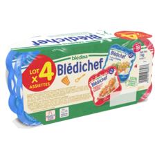 BLEDINA Blédichef assiettes légumes volaille lieu dès 18 mois 4x250g