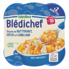 Blédina BLEDINA Blédichef assiette butternut pâtes cabillaud dès 18 mois