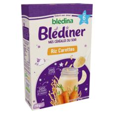 BLEDINA Blédiner céréales en poudre riz carottes sans gluten des 6 mois 210g