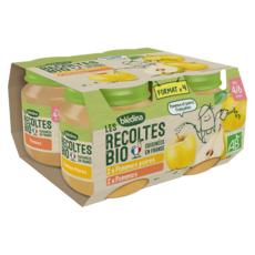 Blédina BLEDINA Les Récoltes Bio Purée de fruits pour bébé dès 4 mois