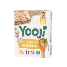 YOOJI Galets dinde cuite bio dès 6 mois 12x10g