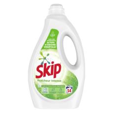 SKIP Lessive liquide diluée fraîcheur intense 34 lavages 1,7l