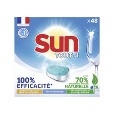SUN Tablettes lave-vaisselle tout en 1 48 lavages 48 tablettes