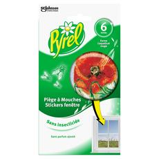 PYREL Piège à mouches en stickers fenêtre 6 stickers