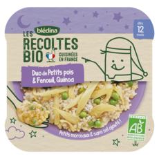 BLEDINA Assiette duo de petit pois fenouil et quinoa bio dès 12 mois 230g