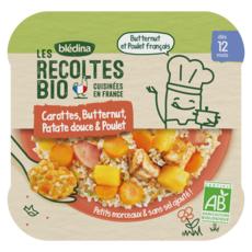 Blédina BLEDINA Assiette carottes butternut patate douce poulet bio dès 12 mois