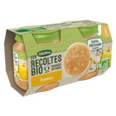 BLEDINA Petit pot dessert pommes bio dès 8 mois 2x130g