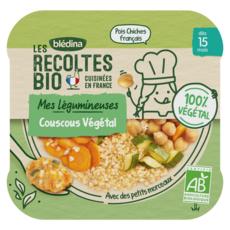 BLEDINA Assiette couscous végétal bio dès 15 mois 250g