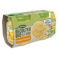 BLEDINA Petit pot dessert pommes banane bio dès 8 mois 2x130g