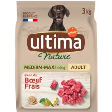 ULTIMA NATURE Croquettes au boeuf frais d'origine française pour chien  3kg