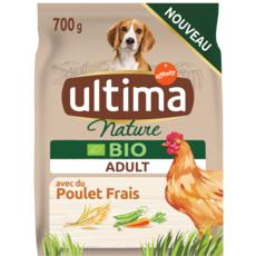 ULTIMA NATURE Nature Bio Croquettes au poulet riz et légumes pour chien 700g